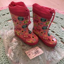 Children's flamingo rubber boots, 25 size