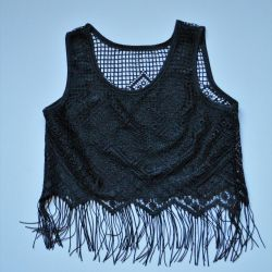 Vintage Fringed Lace Open Top
