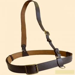 Belt officer belt leather officer, new, 115 cm