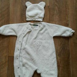 Jumpsuit with cap 6 months, exchange