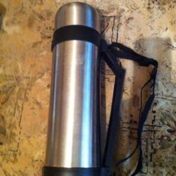 thermos flask with metal flask