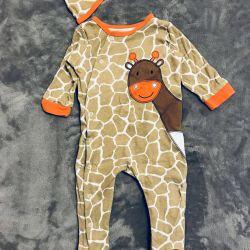 Комбинезон для новорождeнного Жирафик