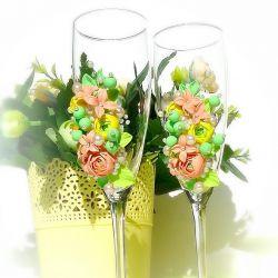 Wedding glasses🌹🌹🌹