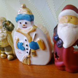 Suveniruri ceramice pentru Anul Nou. 3 buc