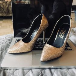 Shoes Brilliant gold / 34 / new