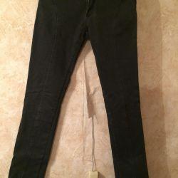 Stretch black jeans