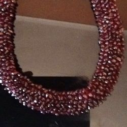 Natural garnet necklace