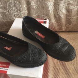 Deri okul ayakkabısı