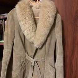 Doğal koyun derisi ceketi
