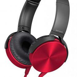 Ακουστικά MDR-XB450 πλήρους μεγέθους (κόκκινο)