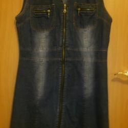 Джинсовое платье 46-48 размер👗