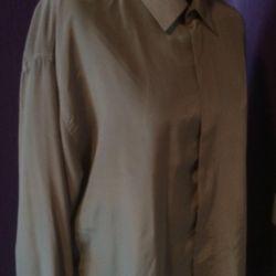 Shirt men's natural silk (Korea) 50-52r.