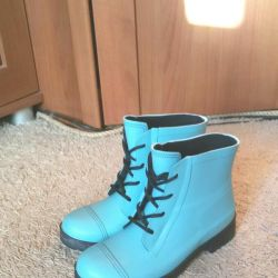 Set: boots and vest, Tiffany color