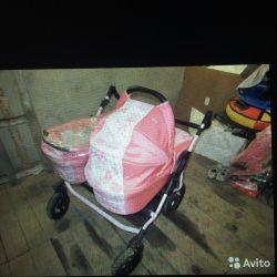 Çift veya hava durumu için bebek arabası. 2'si 2.