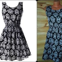 send new summer dress with a pattern