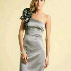 Dress evening Karen Millen silk 42 silver