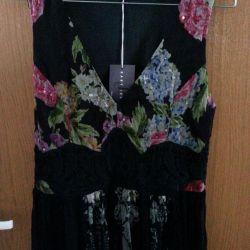 Derhy maxi φόρεμα κομψό 46. Chiffon, Γαλλία