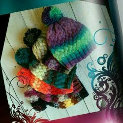 Multi-colored woolen hat