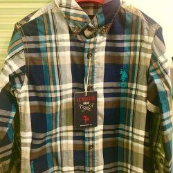 Новая рубашка US Polo Assn 4-5 лет