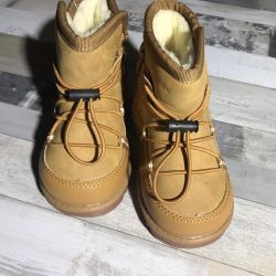 Children's winter boots, natural sheepskin
