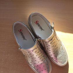 Pantofi argintii 40 r