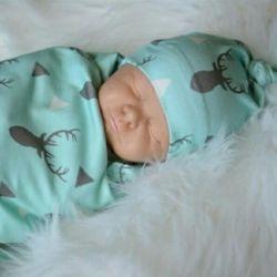 Комплект пелюшка для сну + шапочка