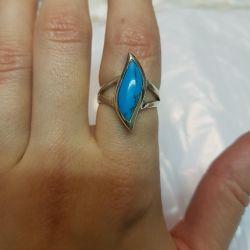 Кольцо с бирюзой. Серебро 925