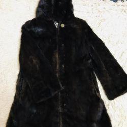 Doğal kahverengi vizon ceket!
