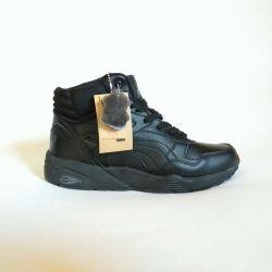 Pantofi din piele de iarnă Puma Puma natural 42
