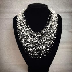 White Airy Beaded Necklace