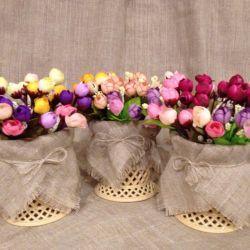 Artificial flowers, decor, interior, Roses, bouquet.