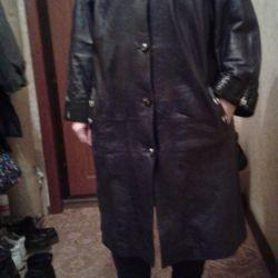 Δερμάτινο παλτό 56 μεγέθους