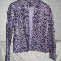 The jacket under the snake skin, purple.