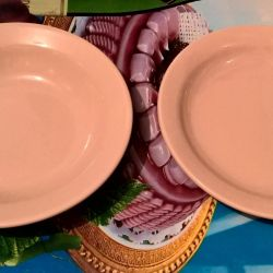 Ceramic plates are deep and not deep
