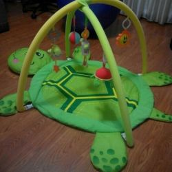 developing rug in the form of a turtle