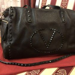 Yeni Valentino hacimli çanta, lüks kalite, deri