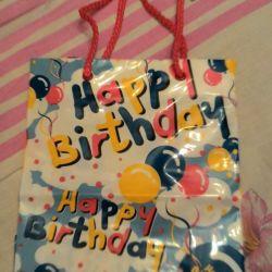 Пакет С днем рождения