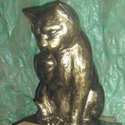 Kedi metal heykel