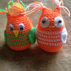 Knitted Toy Owls