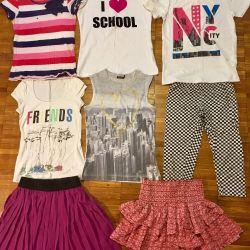 Футболки юбки для девочки 10-14 лет пакетом