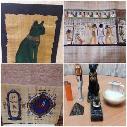 figures Egypt, papyrus