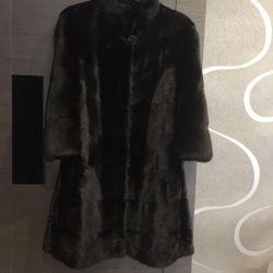 Mink new fur coat flaumfeder Germany