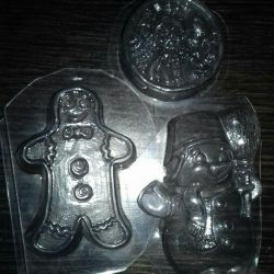 A set of molds for soap making WINTER