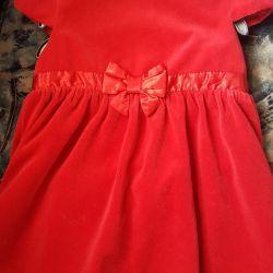 Велюровые платье H&M 12-18