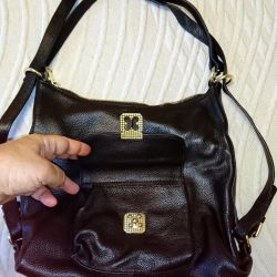 New leather women backpack bag