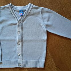 Blue cardigan. Marking 110 cm. Used