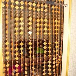 штори міжкімнатні бамбукові, стеклярус
