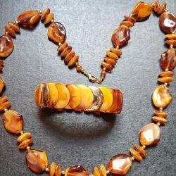 Комплект украшений (искусственный янтарь)