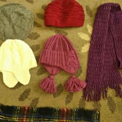 Hats, scarves 9 different