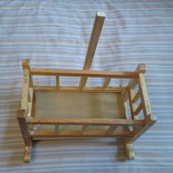 Rocking bed for dolls 40x20x27 cm
